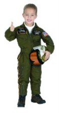 Armed Forces Pilot Costume Pretend Play Dress Up