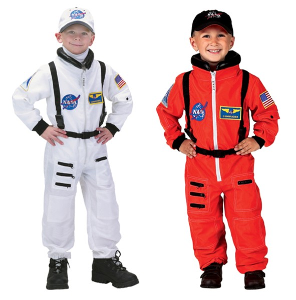 WHITE ASTRONAUT NASA CAP kids space hat boys girls child halloween costume
