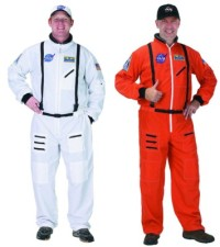 Adult Astronaut Costume Space Suit Nasa White or Bright Orange