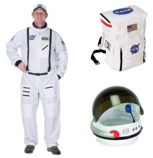 Adult Astronaut Costume, Space Suit, Helmet, Backpack