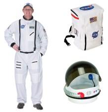 Adult Astronaut Costume, Space Suit, Helmet, Backpack