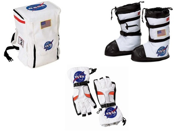 Astronaut Costume Accessories Backpack, Boots, Gloves