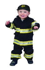 Toddler Fire Fighter Costume 18 month Black