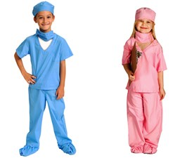 DR Nurse Doctor Costume Scrub Set