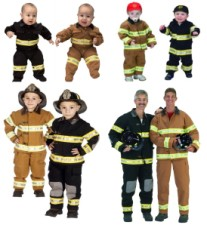 Firefighter Fireman Costume Baby Toddler Child Adult Sizes