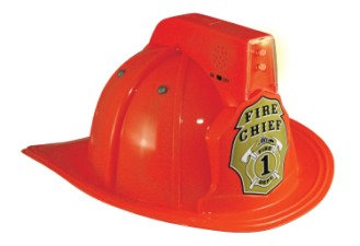 Firefighter Fireman Fire Chief Helmet Child Red