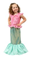 Mermaid Dress Up Girls Princess Dress Halloween Costume Make Believe