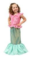Mermaid Dress Up Girls Princess Dress Halloween Costume Make Believe