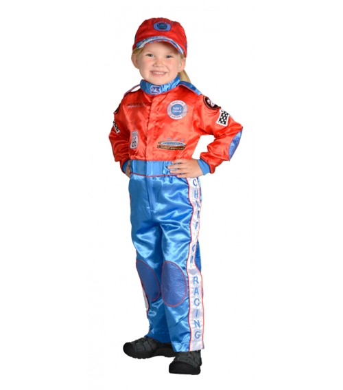 Race Car Driver Costume Red/Blue