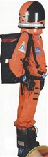 Astronaut Costume Complete Orange/Black, Helmet, Boots, Gloves Combo Set