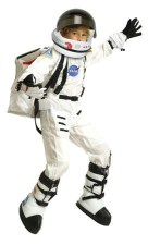 Astronaut Costume Complete NASA White, Helmet, Back Pack, Boots, Gloves Combo Set