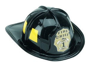 Firefighter Fireman Helmet Child Black