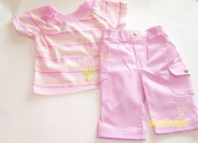 Multi Tee Pink Capri Outfit Play Fair Kids Wear Wholesale 3 outfits