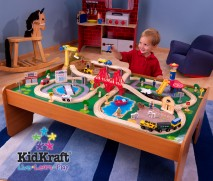 100 piece Kidkraft Ride Around Town Train Set and Table w/ 2 bins $154.90 FREE SHIPPING!!