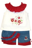 BT Kids Red Polka Dot Capri Set Wholesale 3 outfits